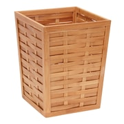 Household Essentials 4 Gallon Bamboo Trash Can