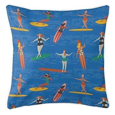 Island Girl Home Surfer Girl Surf Party Throw Pillow
