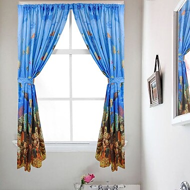 Sweet Home Collection Underwater Sea Curtain Panels (Set of 2)
