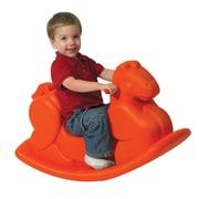 Children's Factory Molded Rocking Horse; Orange