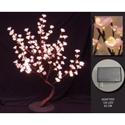 Hi-Line Gift 37367, 128 Floral Lights, Pink Bonsai Tree, 128 LED Lights