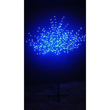 Hi-Line Gift – Lumières florales, cerisier en fleurs d'extérieur, 600 DEL, bleu
