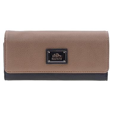 Roots – Pochette portefeuille pour femmes, brun sable/noir, RT23871-S6