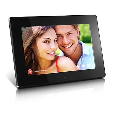 Aluratek - Cadre numérique Wi-Fi avec écran tactile IPS 10,1 po, 8 Go, noir