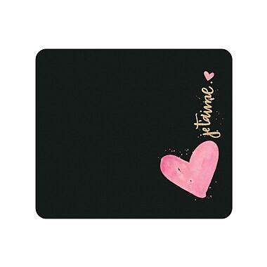 Centon OTM Print Series Black Mouse Pad, Je T'aime Rose