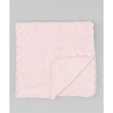 Baby Mode – Couverture en peluche, texture bouclée, rose