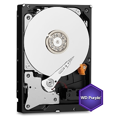 Disque dur interne WD Purple Surveillance, 4 To, SATA, 6 Go/s, 3,5 po (WD40PURZ)