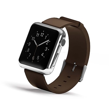 iPM Genuine Leather Replacement Band For Apple Watch-38mm-Brown (GLAPLW38BN)