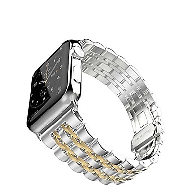 iPM Modern Stainless Steel Link Band with Butterfly Closure for Apple Watch-42mm-Gold (ICEWA2142GO)