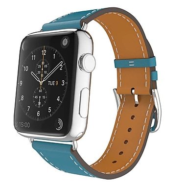 iPM Luxury Genuine Leather Watch Strap Replacement Band-42mm-Blue (ICEWA2742BL)