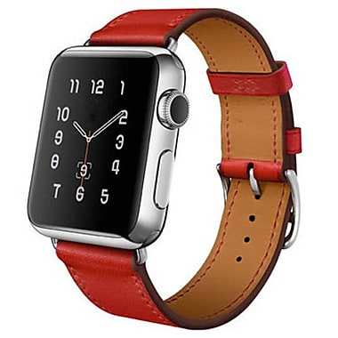 iPM Luxury Genuine Leather Watch Strap Replacement Band-42mm-Red (ICEWA27-42R)