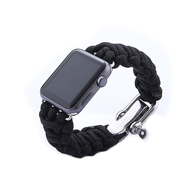 iPM Weave Watch Band with Stainless Steel Clasp for Apple Watch-38mm-Black (ICEWA33138BK)
