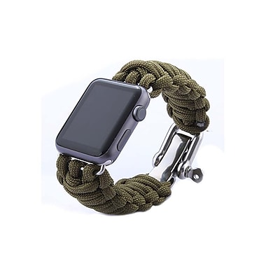 iPM Weave Watch Band with Stainless Steel Clasp for Apple Watch-38mm-Green (ICEWA33138GN)