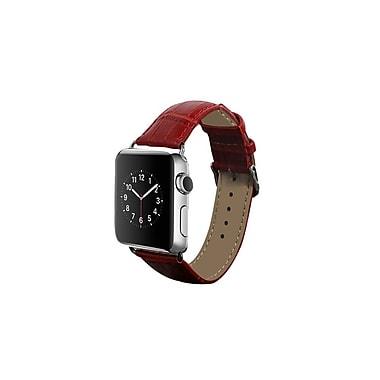 iPM Crocodile Leather Band for Apple Watch-42mm-Red (ICEWA36R42)
