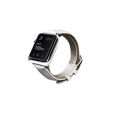 iPM Crocodile Leather Band for Apple Watch-42mm-White (ICEWA36W42)