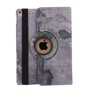 """iPM 360-Degree Rotary Stand Leather Case for iPad Pro (9.7"""")-Vintage Map-Gray (IPADGEO9GRMP)"""