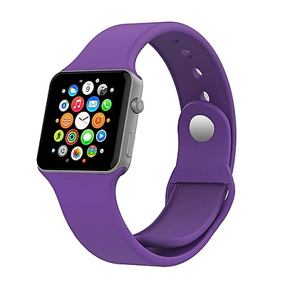 iPM Soft Silicone Replacement Sports Band For Apple Watch-38mm-Purple (SPRTSW38PU)