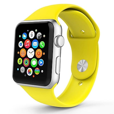 iPM Soft Silicone Replacement Sports Band For Apple Watch-42mm-Yellow (SPRTSW42Y)