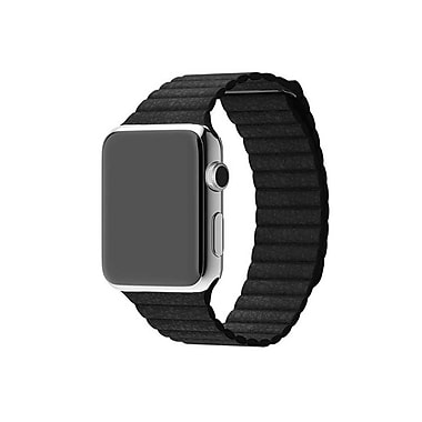 iPM Leather Bracelet with Magnetic Closure For Apple Watch-Black 42mm (WA15BK42MM)