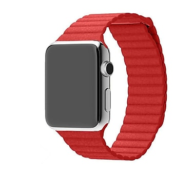 iPM Leather Bracelet With Magnetic Closure For Apple Watch-Red 38mm (WA15R38MM)