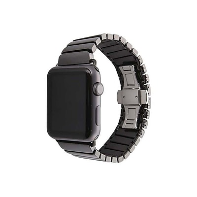 iPM Ceramic Link Band with Butterfly Closure for Apple Watch-42mm-Black (WA3542BK)
