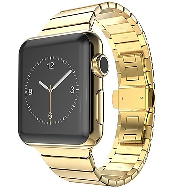 iPM Stainless Steel Link Band with Horizontal Butterfly Closure for Apple Watch-42mm-Gold (WA35BTFL42GO)