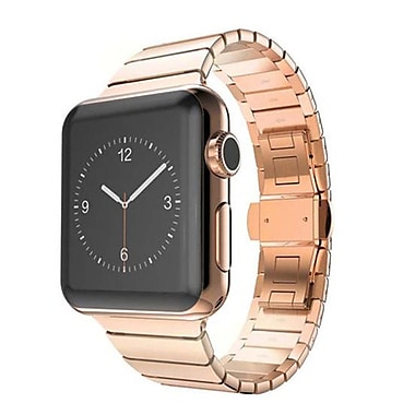 iPM Stainless Steel Link Band with Horizontal Butterfly Closure for Apple Watch-38mm-Rose Gold (WA35BTFL38RG)