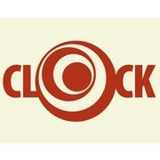 Style and Apply Circle Wall Clock Wall Decal; Dark Red