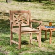 SEI Solid Teak Wood Arm Chair (CR5601)