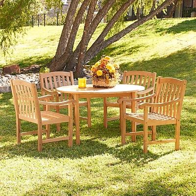 SEI Teak Outdoor Dining Set - 5 Piece (CR9953)