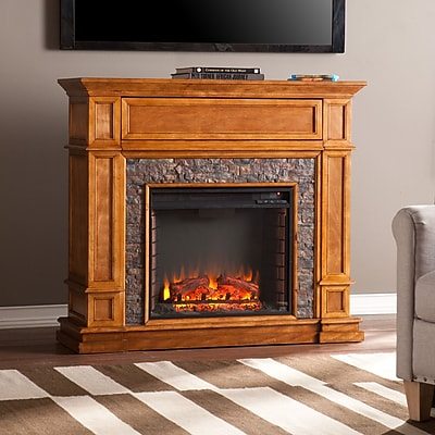 SEI Belleview Simulated Stone Media Center Electric Fireplace (FE9333)