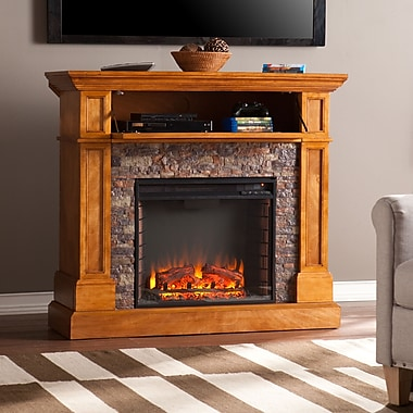 SEI Rosedale Stone Look Convertible Electric Media Fireplace (FE9345)