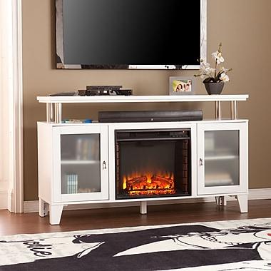 SEI Cabrini Media Electric Fireplace - White (FE9349)