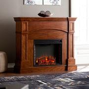 SEI Lantana Corner Convertible Electric Fireplace - Oak Saddle (FE9625)