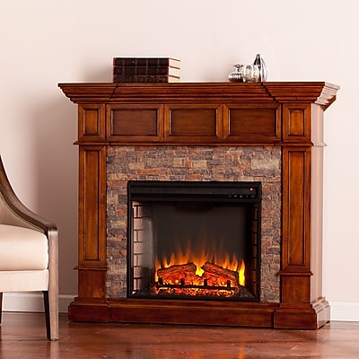 SEI Merrimack Simulated Stone Convertible Electric Fireplace (FE9637)