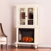 SEI Townsend Electric Fireplace Curio - Antique White (FE9828)