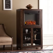 SEI Allman Electric Fireplace Storage Tower - Grayed Espresso (FE9834)