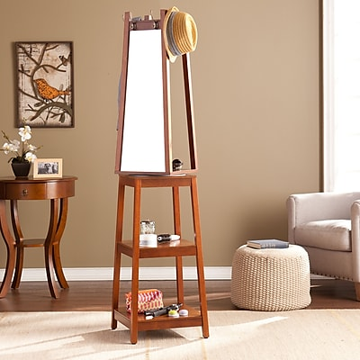 SEI Adams Swivel Mirror Hall Tree - Espresso (HE7658)