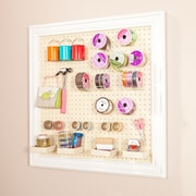 SEI Anna Griffin Craft Room Wall Mount Framed Peg Board (HZ4926)