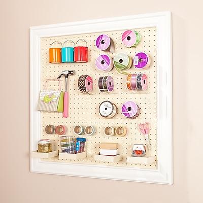SEI Anna Griffin Craft Room Wall Mount Framed Peg Board (HZ4926)