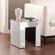 SEI Schiaparelli Mirrored Accent Table - Silver (OC0091)