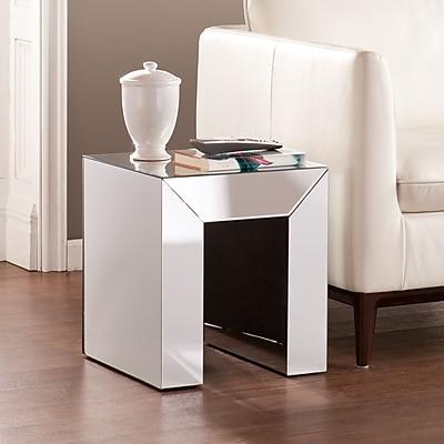 SEI Schiaparelli Mirrored Accent Table - Silver (OC0091)