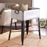 SEI Atreyu Galvanized Finish Accent Table (OC2273)
