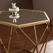 SEI Joelle Geometric Accent Table - Gold (OC2320)