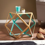 SEI Jenna Accent Table - Blue & Champagne (OC2322)