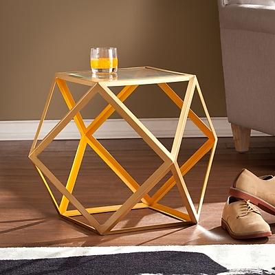 SEI Jenna Accent Table - Yellow & Champagne (OC2324)