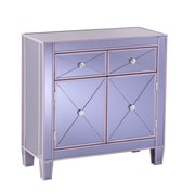 "SEI  Mirage 28.5"" Colored Mirrored Cabinet - Purple (OC9467)"