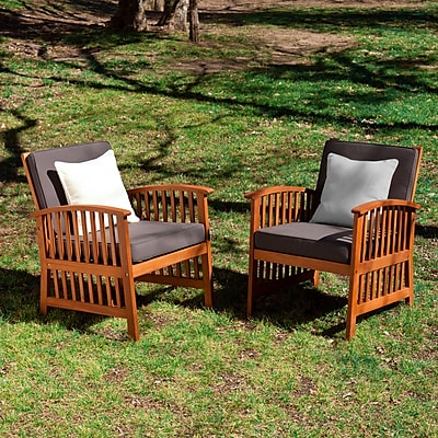 SEI Catania Outdoor Armchairs Set- 2 Piece - Natural (OD6622)