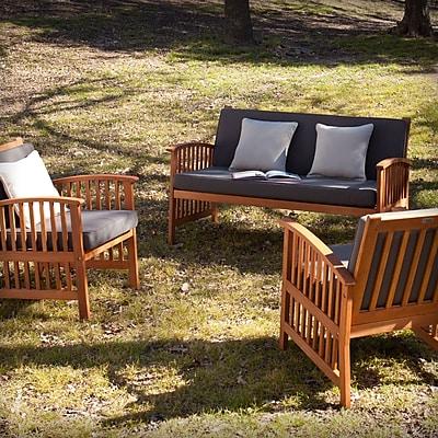 SEI Catania Outdoor Deep Seating Set - 3pc- Natural (OD6624)