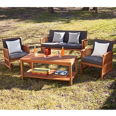 SEI Catania Outdoor Deep Seating Set - 4pc- Natural (OD6625)